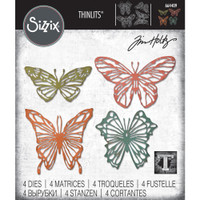 Sizzix - Tim Holtz - Thinlits Dies - Scribbly Butterfly (664409)