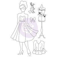 Prima - Julie Nutting - Mixed Media Cling Rubber Stamp - Kelly (913014)
