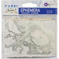 Prima Marketing Frank Garcia - Capri - Ephemera #1 w/foil details - 32 Pcs (996031)