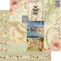 Prima Frank Garcia - Double sided 12x12 Paper w/Foil Accents - Capri - Marina Grande (995898)