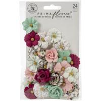 Prima - Pretty Mosaic - Flowers 24pc - Larimar (646899)