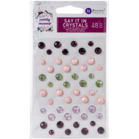 Prima - Say It In Crystals 48/Pkg - Pretty Mosaic (642259)