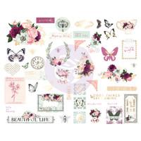 Prima - Cardstock Chipboard Stickers 45/Pkg - Pretty Mosaic (642211)