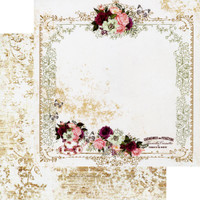 Prima - Double-Sided Cardstock 12x12 - Pretty Mosaic - Tea & Roses (PRMO12 49344)
