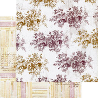 Prima - Double-Sided Cardstock 12x12 - Pretty Mosaic - Floral Toile (PRMO12 49245)