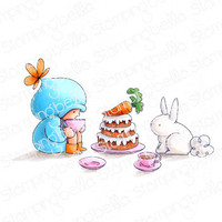 Stamping Bella - Cling Stamps - Bundle Girl Tea Party (EB905)