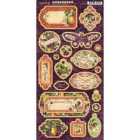 """Graphic 45 - Chipboard Die-Cuts 6""""X12"""" Sheet - Fruit & Flora (G4502002)"""