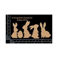 Scrapaholics - Laser Cut Chipboard - Bunnies (S49514)