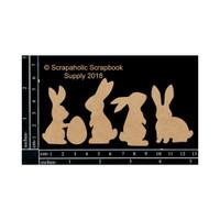 Scrapaholics - Laser Cut Chipboard - Bunnies (S49514)