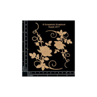 Scrapaholics - Laser Cut Chipboard - Rose Flourish Corner (S49903)
