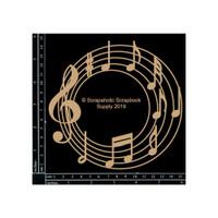 Scrapaholics - Laser Cut Chipboard - Music Circle Frame (S52460)