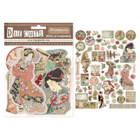 Stamperia - Die-Cut Chippies - 62/pcs - Oriental Garden (DFLDC04)