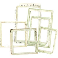 49 and Market - Stitched Frames - Vintage Artistry Sage Collection (VAC32020)