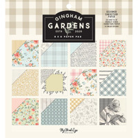 """My Mind's Eye - Double-Sided Paper Pad 6""""X6"""" 24/Pkg - Gingham Gardens (GF2110)"""