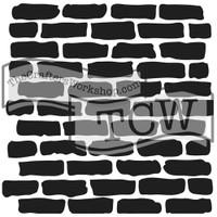 The Crafters Workshop - 6x6 Template Stencil - Mini Bricks (TCW 191s)