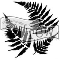 The Crafters Workshop - 6x6 Template Stencil - Mini Ferns (TCW 243s)