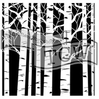 The Crafters Workshop - 6x6 Template Stencil - Mini Aspen Trees (TCW 252s)