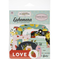 Carta Bella - Ephemera 33/Pkg - Oh Happy Day Spring (HD112024)