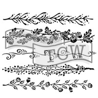 The Crafters Workshop - 6x6 Template Stencil - Mini Fanciful Borders (TCW 615s)