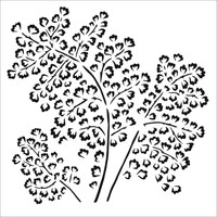 The Crafters Workshop - 6x6 Template Stencil - Maidenhair Fern (TCW 862s)