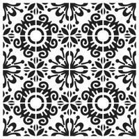The Crafters Workshop - 6x6 Template Stencil - Fantasy Tile (TCW 882s)