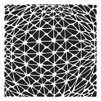 The Crafters Workshop - 12x12 Template Stencil - Geo Netting (TCW901)