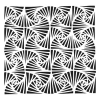 The Crafters Workshop - 6x6 Template Stencil - Fantangle (TCW 902s)