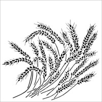 The Crafters Workshop - 6x6 Template Stencil - Wheat Stalks (TCW 912s)
