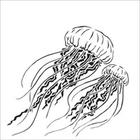 The Crafters Workshop - 12x12 Template Stencil - Jellyfish (TCW917)