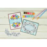 Sizzix - Framelits Die & Stamp Set - Ink Blooms (664355)