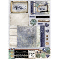 Studio Light - Denim Saturdays - Die-Cut Card Toppers A4 12/Pkg (STANSL88)
