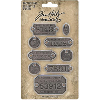 Tim Holtz - Idea-Ology - Metal Factory Tags 9/Pkg (TH94039)