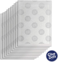 Glue Dots - Transparent Adhesive Sheets for Vellum, 3.5 x 2.5 Inches, (08180-AMZ)