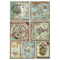 Stamperia - Decoupage Rice Paper A4 - Seaworld Collection - Frames (DFSA4434)