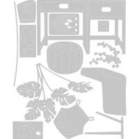 Sizzix - Thinlits Die Set 13Pkg - Urban Interiors (664383)