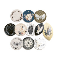 P13 - Decorative Embellishments 11 pc - Tag Set - Soulmate (P13-MAT-21)