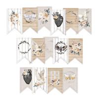 P13 - Decorative Embellishments 15 pc - Banner Die Cuts - Soulmate (P13-MAT-32)