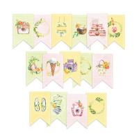 P13 - Decorative Embellishments 15 pc - Banner Die Cuts - Sunshine (P13-SUN-32)