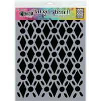 """Dyan Reaveley Dylusions Large Stencil 9""""X12"""" - Fancy Floor (DYSL 71501)"""