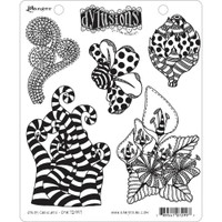"""Dyan Reaveley Dylusions Cling Stamp 8.5""""X7"""" - Stripy Curlicues (DYR 72997)"""