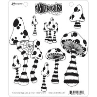 """Dyan Reaveley Dylusions Cling Stamp 8.5""""X7"""" - There's No Mushroom In Here! (DYR 73017)"""