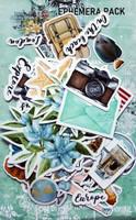 13@rts - Ephemera Die Cuts 47/Pcs - Travel the World (ARTTW09)