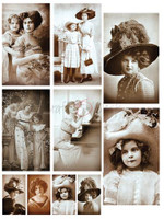 Craft O Clock - 12/sheets Single Sided 6x8 Paper Collection Set - Mixed Media Vintage Photos (CC-MM-ZV-01)