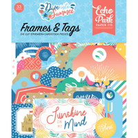 Echo Park - Cardstock Frames & Tags 33/Pkg- Dive Into Summer (IS210025)