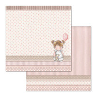 Stamperia - Double Sided Cardstock 12 x 12 - Little Girl - Balloon (SBB680)