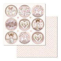 Stamperia - Double Sided Cardstock 12 x 12 - Little Girl - Round (SBB681)