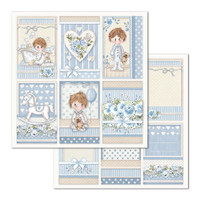 Stamperia - Double Sided Cardstock 12x12 - Little Boy - Frames (SBB683)