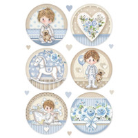 Stamperia - Decopague Rice Paper Sheet A4 - Little Boy - Round (DFSA4453)
