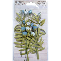 49 and Market - Sugar Stems 16/Pkg - Blue Raspberry (49SSF 32334)