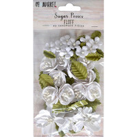 49 and Market - Sugar Posies 49/Pkg - Fluff (49SUG 32440)